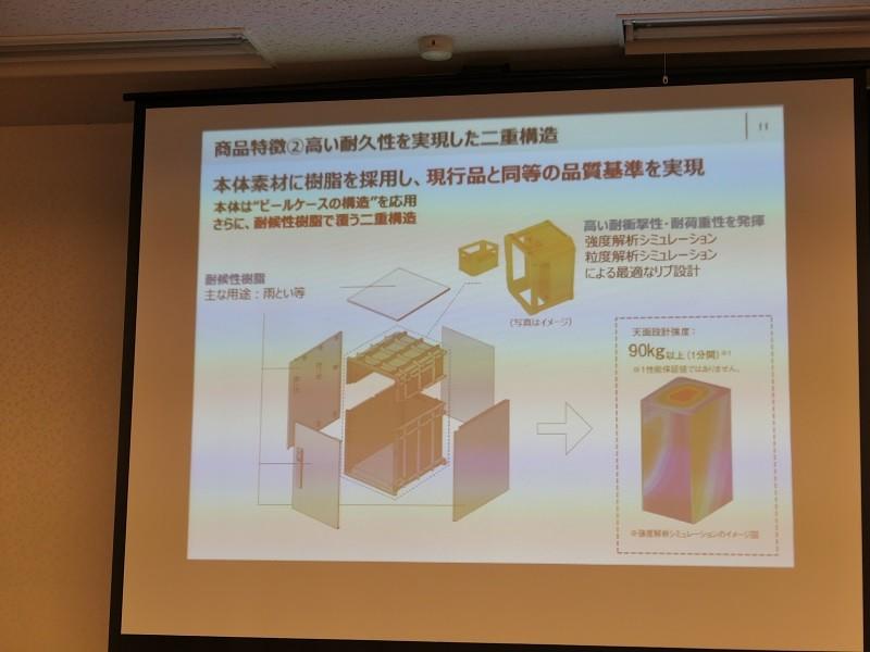 ヘルメットなどに使われる素材で内部を構成する