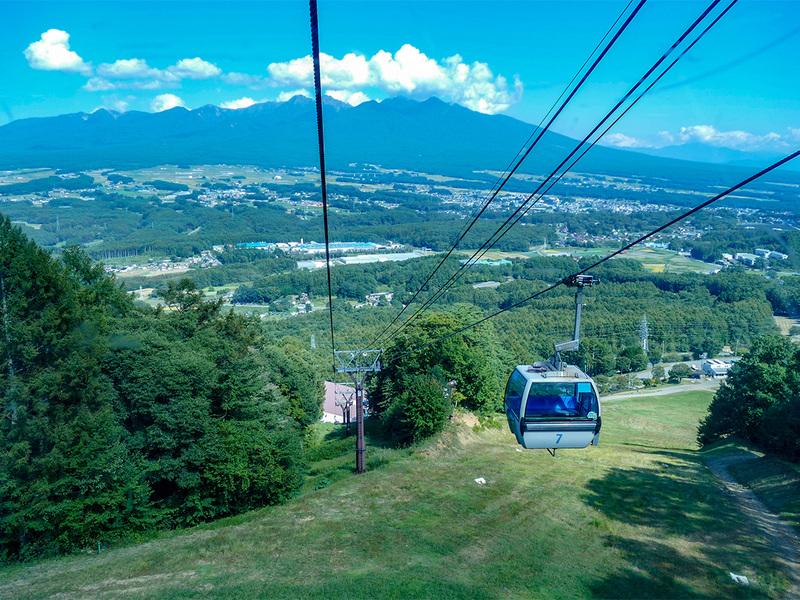 絶景を見下ろしていればすぐ山頂駅です