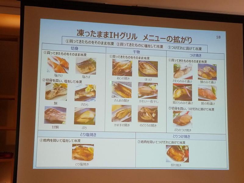 「切身」「干物」「つけ置き」「とり塩焼き」「とりつけ焼き」の5種類を用意する