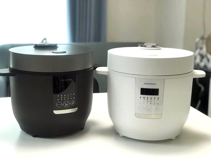 「MONONICS 4合炊飯器」価格:4,980円(税抜)。カラーはブラックとホワイト