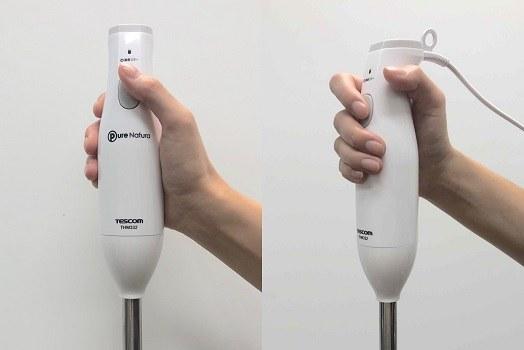 手の大きさや握り方の違いに対応する新形状グリップ