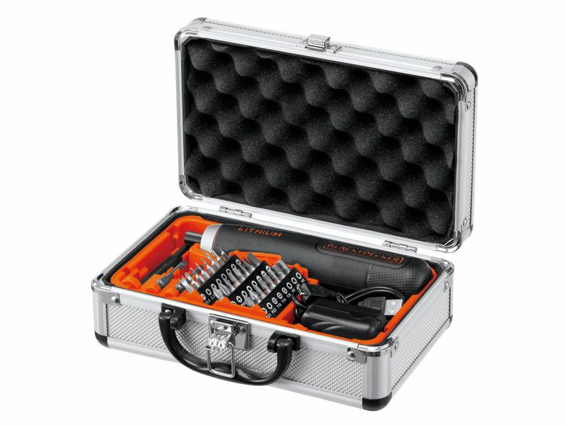 電動ドライバー「プッシュドライバー」のアルミ製ツールボックス付属の限定モデル「BD40K27A」