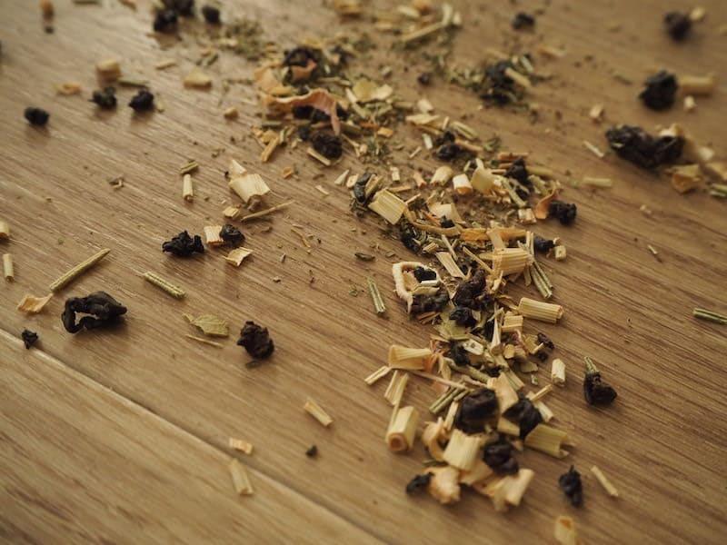 テストに使った中国茶の茶葉