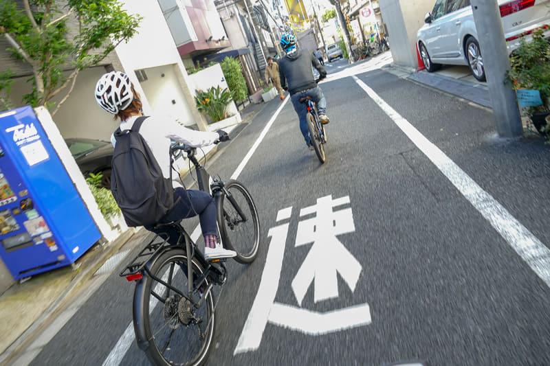 街を練り歩く気分でe-bike散歩