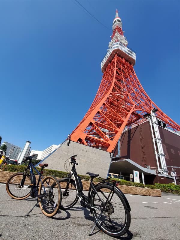 東京タワーの麓の坂がキツいことは知っている人は多いと思いますが、e-bikeなら平らな所を走っているよりむしろラクです