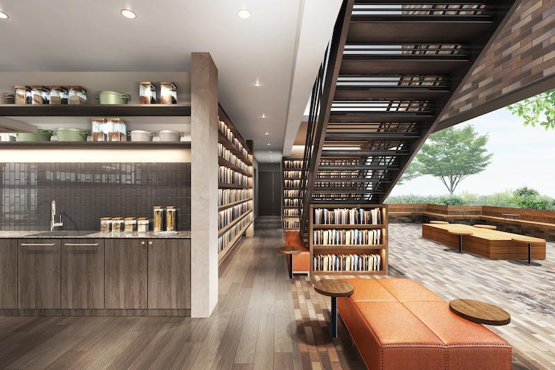 世界各国の「食」に関する約3,000冊の本を備える「COOK BOOK LIBRARY(ブックストア/コーヒースタンド)」