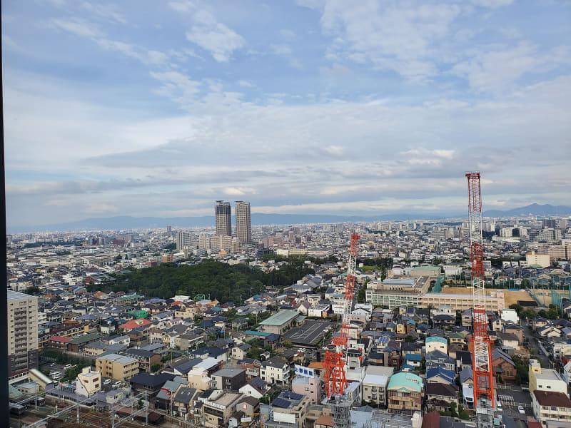 堺市役所の展望階から撮影