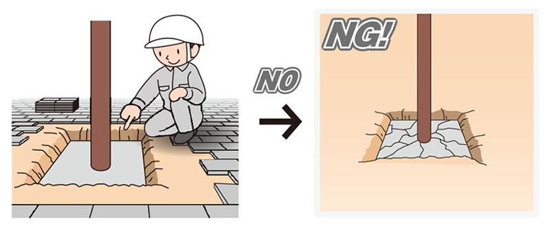 「QQポール」は、基礎のコンクリートが傷んでいないなど、一定の条件を満たすと利用できる