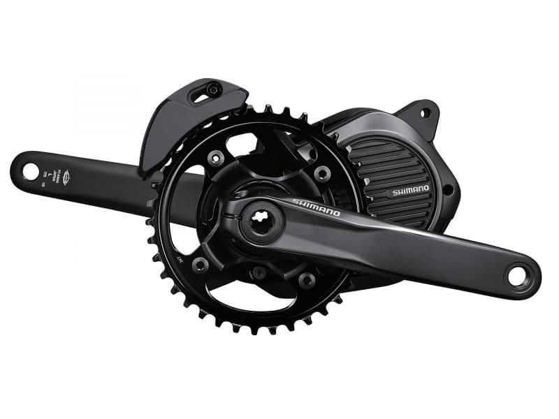 e-bikeには、スポーツ走行向けに専用開発された電動ドライブユニットが搭載されます。写真はヨーロッパでも高い評価を受けているドライブユニットの日本仕様シマノSTEPS「E8080シリーズ」