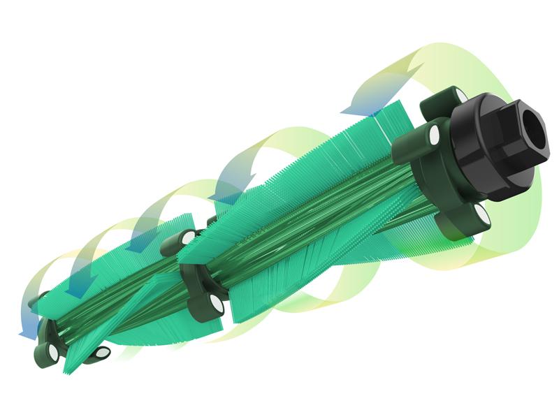 ブラシが回転する際に布団に微振動を与える
