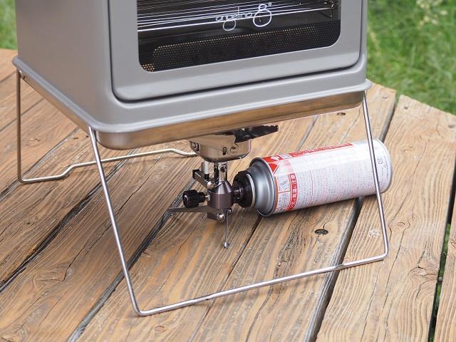 アウトドア用ガスストーブ、OD缶タイプ、CB缶タイプなどに対応する