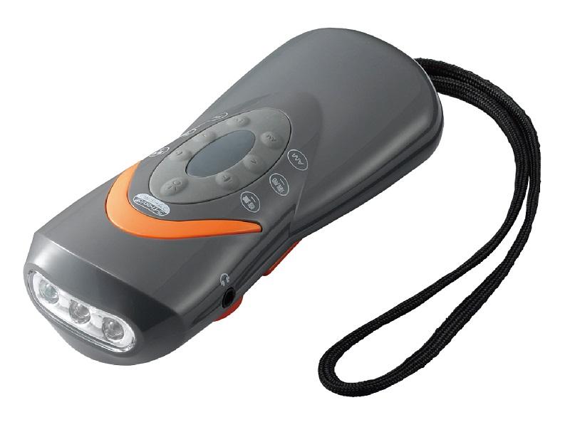 手回し充電ラジオライト BS801GY
