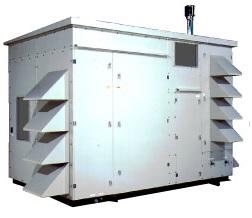 アースクリーン東北の再生エネルギー併用型デシカントメガクール空調機