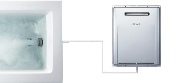 マイクロバスユニット内蔵型ふろ給湯器