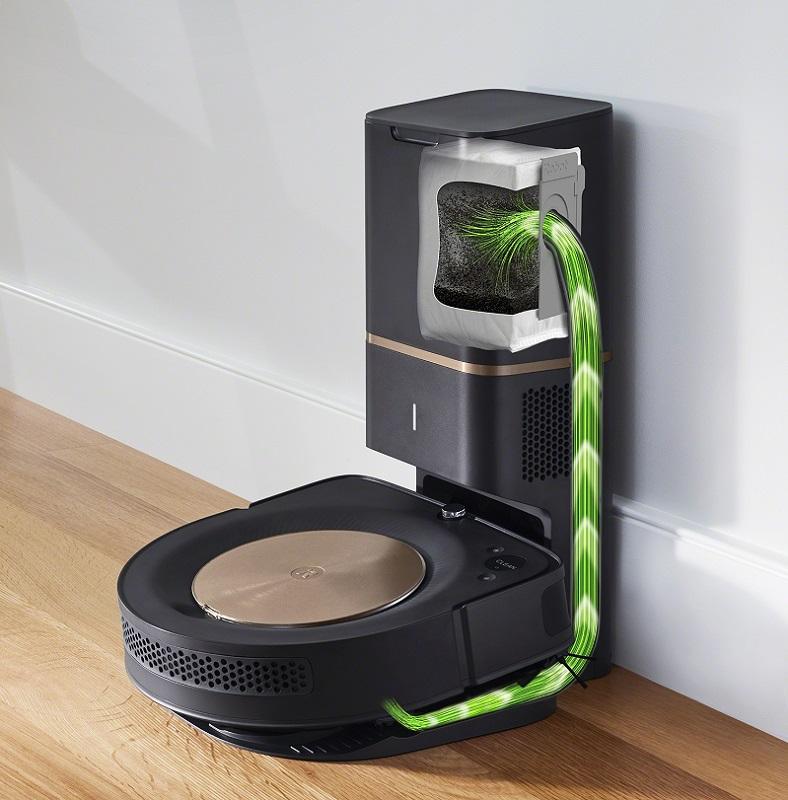 ダストカップのゴミを吸引する自動ゴミ収集機「クリーンベース」