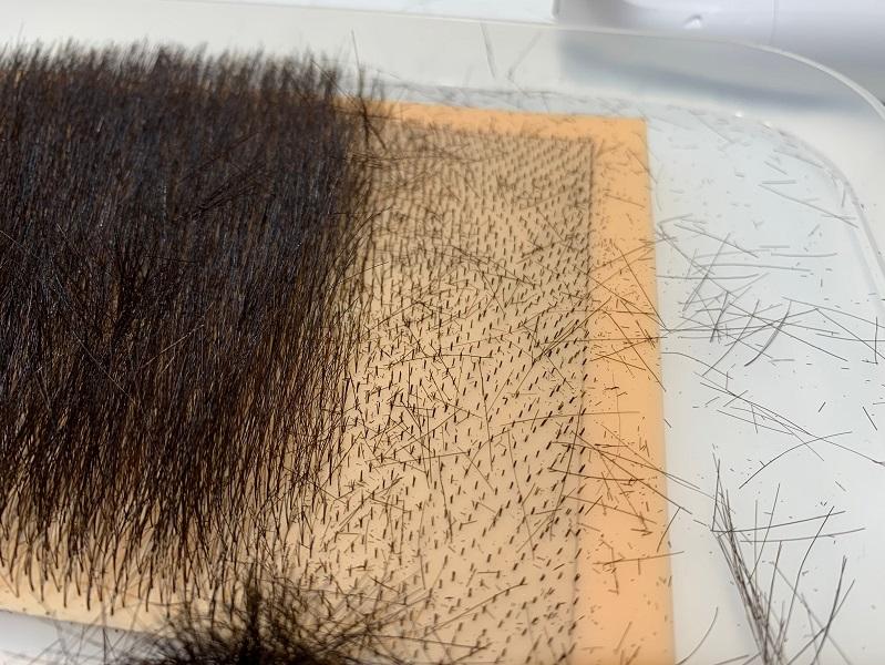 太く長い毛も簡単に剃れる