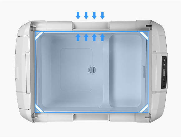 保冷性に優れているシクロペンタンを断熱材発泡剤として使用