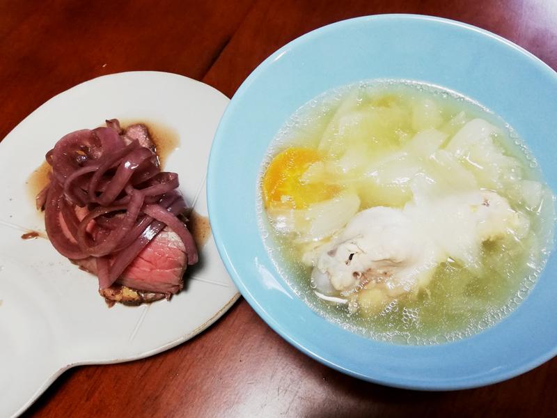 スープもおいしくできましたが、内ぶたが汚れるし、手間で言えばガス火の方が楽だと思いました