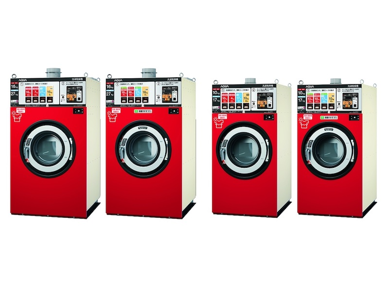 「羽毛ふとん専用コース」を搭載したコインランドリー洗濯機器
