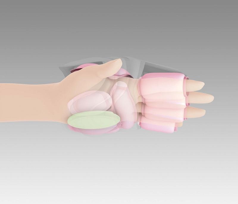 手のひらにフィットする指圧プレート搭載