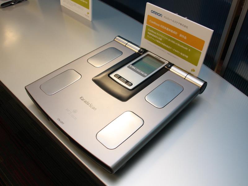 オムロンヘルスケアの体組成計「Continua対応体重体組成計」は試作品