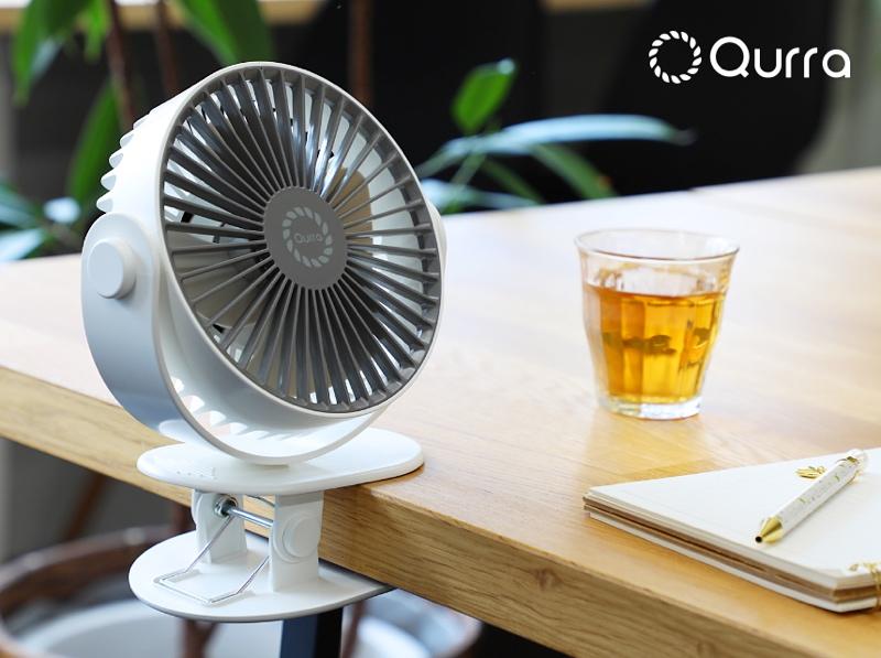 クリップで固定できる小型扇風機