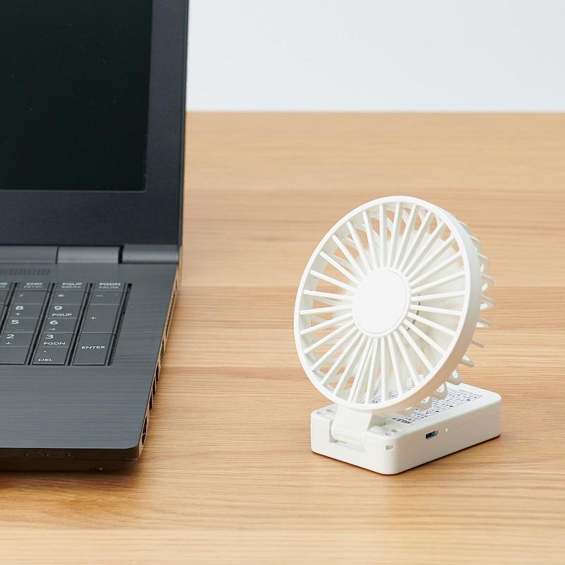 卓上/首かけ扇風機としても使用可能