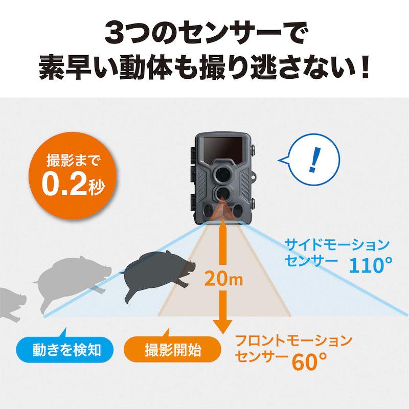 人感センサーは3個搭載
