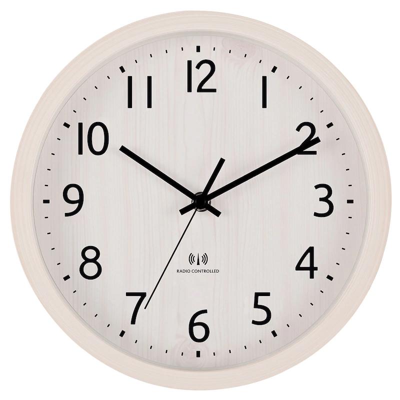 電波ステップ秒針掛け置き兼用時計 フォーレ(ホワイトウォッシュ)