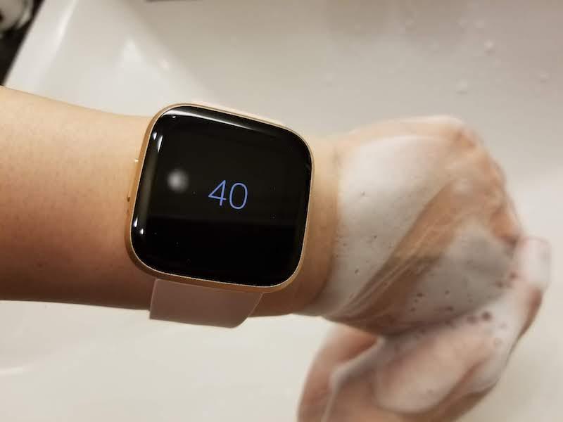 残り時間が表示される。手洗い時間を測るときに便利