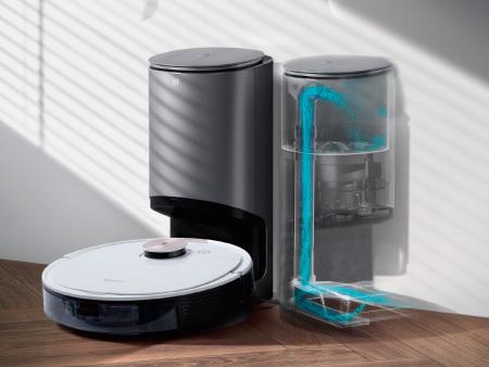 ロボット掃除機のダストボックス内のゴミを約30杯分収集可能