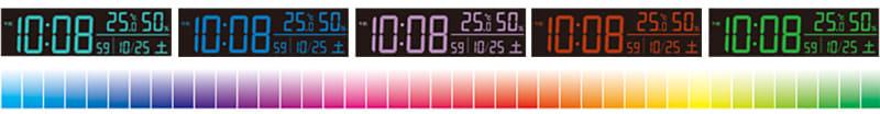 表示色を70色から選べる
