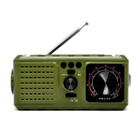 RELAX エマージェンシー ラジオ(オリーブ)