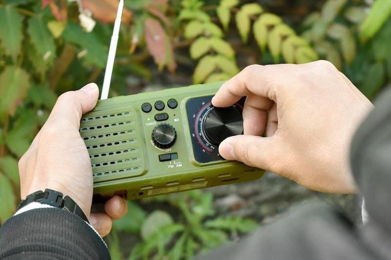 AM/FMラジオを搭載