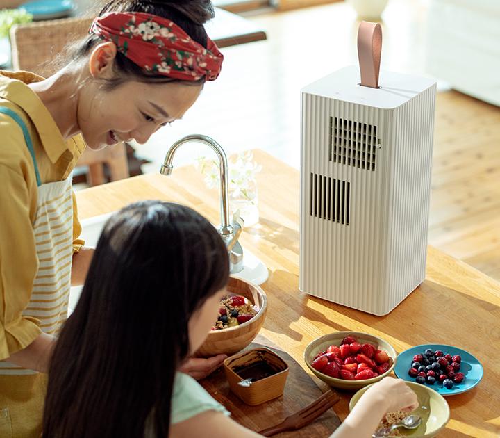 キッチンや洗面所などに気軽に置けるポータブルエアコン