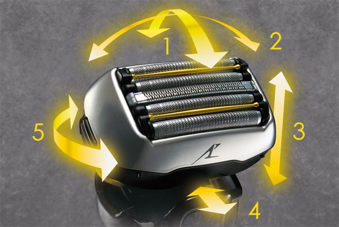 前後/左右/上下に加えて、前後にスライド/ツイストして顔の凹凸にぴったり密着する「5Dアクティブサスペンション」