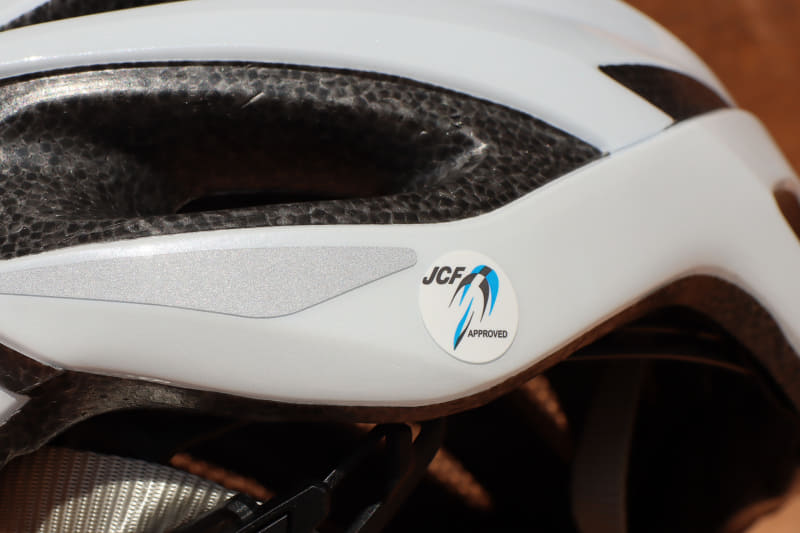 JCF公認なのでヘルメットとしての性能は十分