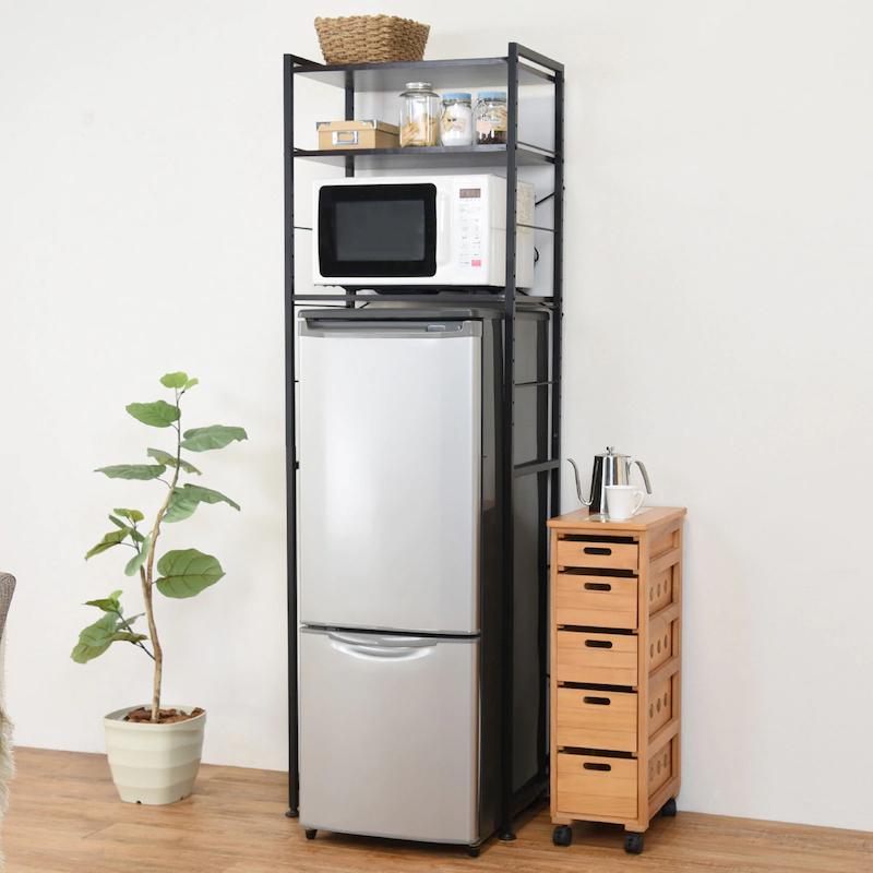 冷蔵庫ラック(ブラック)