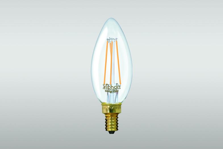 シャンデリアなどのE12口金に対応したLED電球