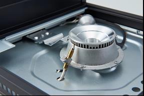 熱電対が消火時の温度変化を感知して、ガスを遮断する