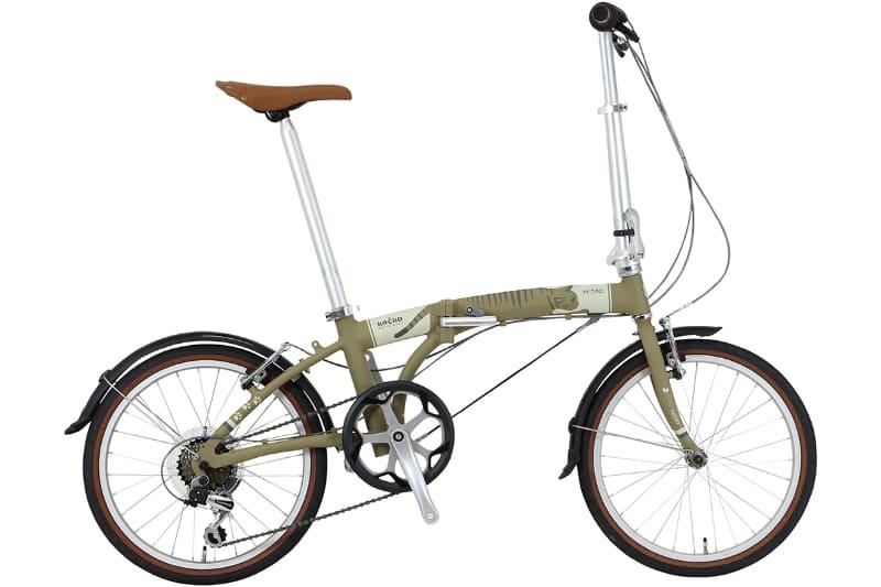 折りたたみ自転車「Kocka(コチカ)」。カラーはキジトラ