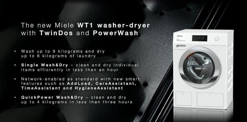 ドラム式洗濯乾燥機「WT1」の洗濯9kg/乾燥6kgモデル