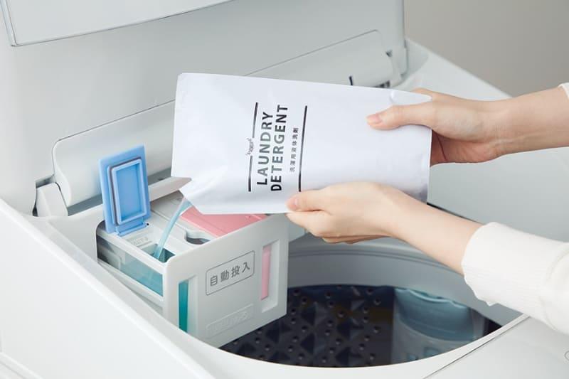 注ぎ口が広く、注ぎやすい液体洗剤/柔軟剤のタンク