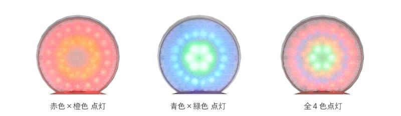 LEDのみの利用も可能。点灯色は3パターン