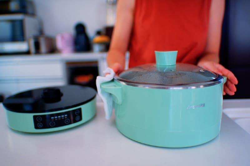 フタ、鍋本体部分は丸洗い可能