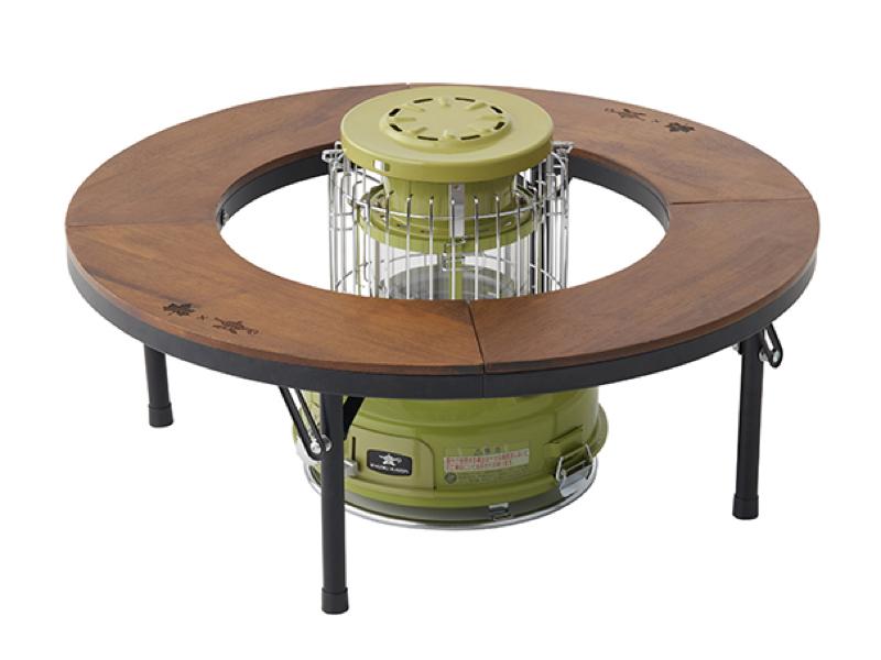 円形テーブル「LOGOS×ALADDIN ストーブテーブル」(別売)とあわせて使うのに、最適なサイズ