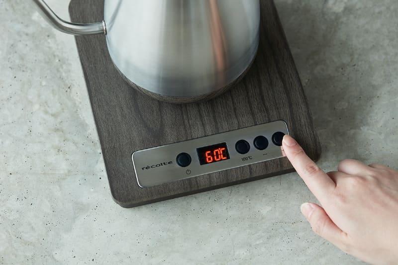 1℃単位で温度調節可能
