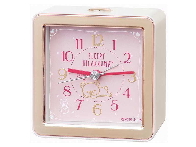 リラックマをデザインした目ざまし時計「CQ161P」