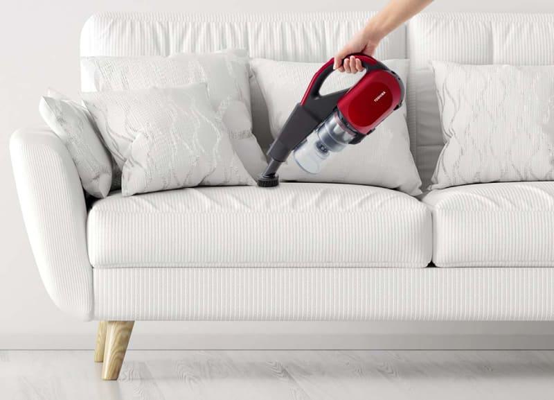 ソファーなどの掃除に適している丸ブラシ