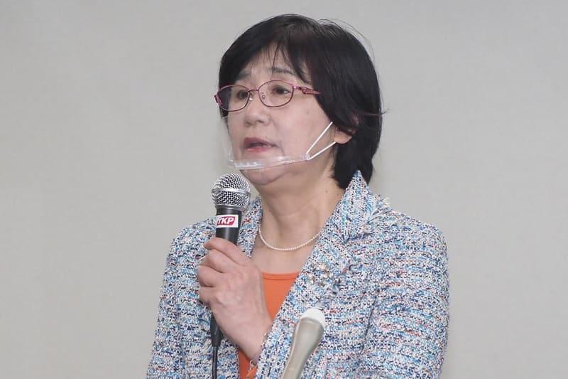実験結果について説明した日本大学医学部内科学系血液膠原病内科学分野 上席客員研究員で理化学研究所の間 陽子氏